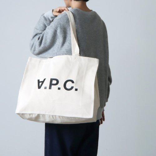 A.P.C (アーペーセー) SHOPPING DANIELA BLACK LOGO DENIM NATURAL / ショッピングバッグ