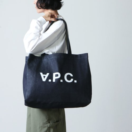 A.P.C (アーペーセー) SHOPPING DANIELA Indigo DENIM / ショッピングバッグ