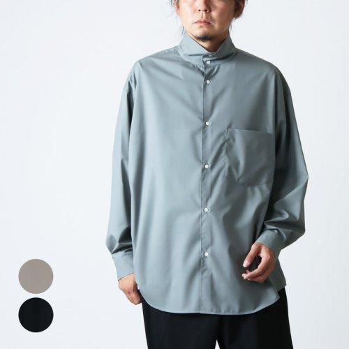 Graphpaper (グラフペーパー) Fine Wool Tropical Stand Collar Shirt / ファインウールトロピカルスタンドカラーシャツ