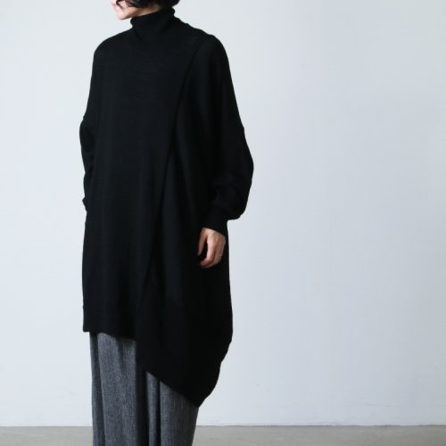 08sircus (ゼロエイトサーカス) Baby alpaca high neck drape top / ハイネックセーター