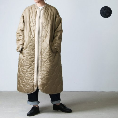 08sircus (ゼロエイトサーカス) Micro rip Quilted long coat / キルテッドロングコート
