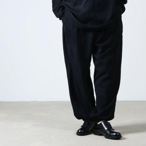 COMOLI (コモリ) シルクネル ドローストリングパンツ