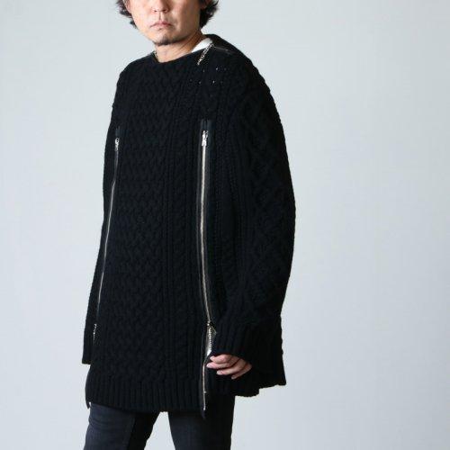 TAKAHIROMIYASHITATheSoloist. (タカヒロミヤシタザソロイスト) boat neck aran cape / ボートネックアランケープ