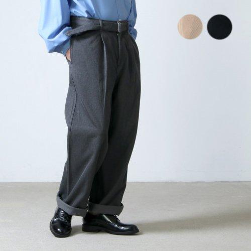Graphpaper (グラフペーパー) Hard Twill Belted Pants / ハードツイルベルテッドパンツ