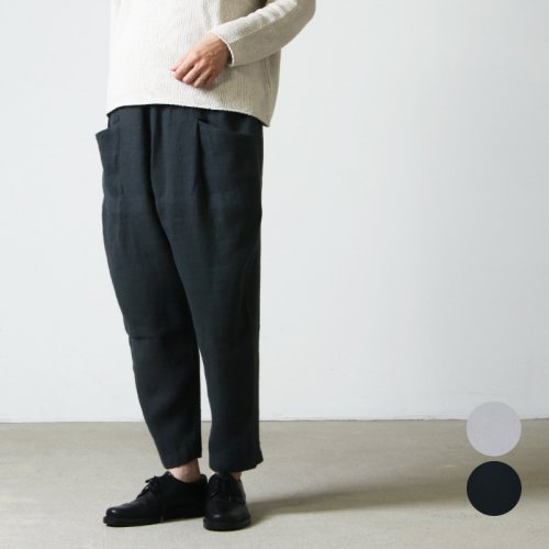 evameva (エヴァムエヴァ) linen tuck pants / リネンタックパンツ