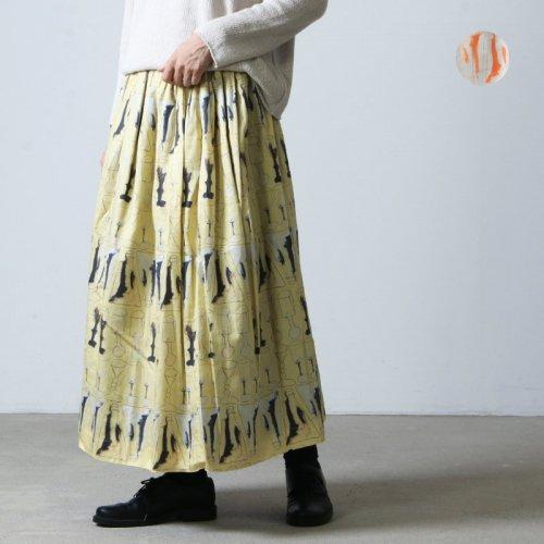 Veritecoeur (ヴェリテクール) コットンシルクプリントスカート