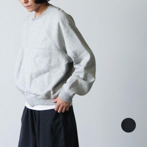 unfil (アンフィル) vintage cotton-fleece cropped cardigan / ヴィンテージコットンフリースクロップドカーディガン