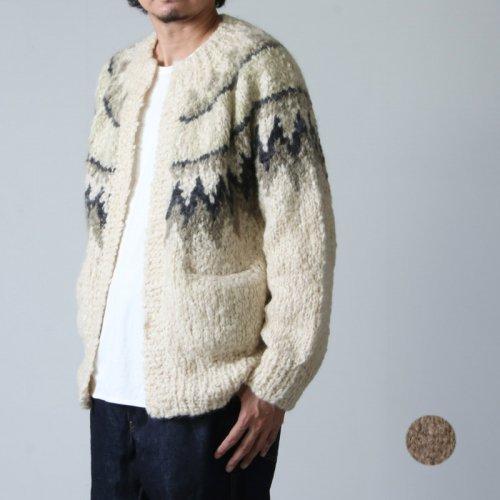 unfil (アンフィル) cashmere blend hand-knit cardigan / カシミアブレンドハンドニットカーディガン