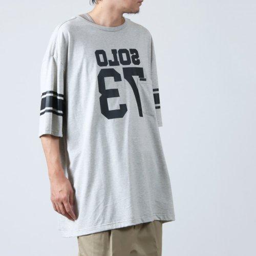TAKAHIROMIYASHITATheSoloist. (タカヒロミヤシタザソロイスト) oversized geometric morse code crew neck sweatshirt