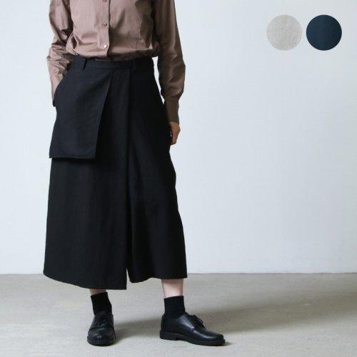 FACTORY (ファクトリー) コットン朱子織 ポケットギャルソンパンツ