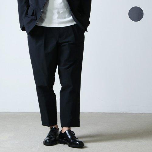 and wander (アンドワンダー) plain tapered stretch pants / プレーンテーパードストレッチパンツ