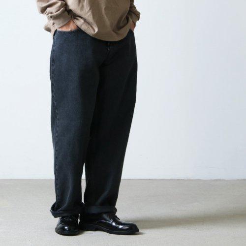 CIOTA (シオタ) ブラック スビンコットン 13,5oz バギーデニム