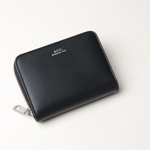 A.P.C (アーペーセー) COMPACT EMMANUELLE Noir (Silver Zip) / ジップショートウォレット