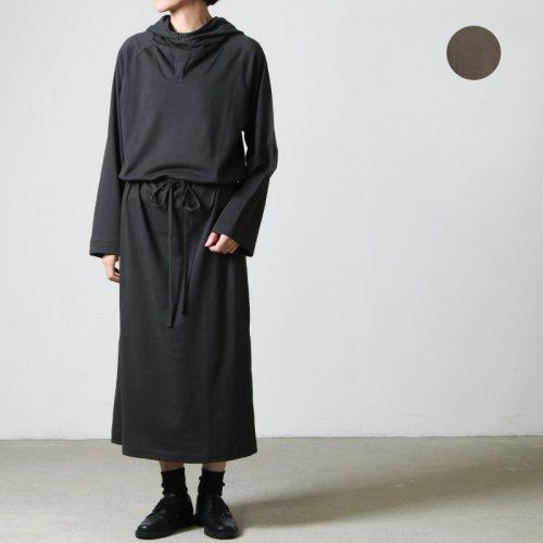 THE HINOKI (ザ ヒノキ) Cotton Wool Jersey Hooded Dress
