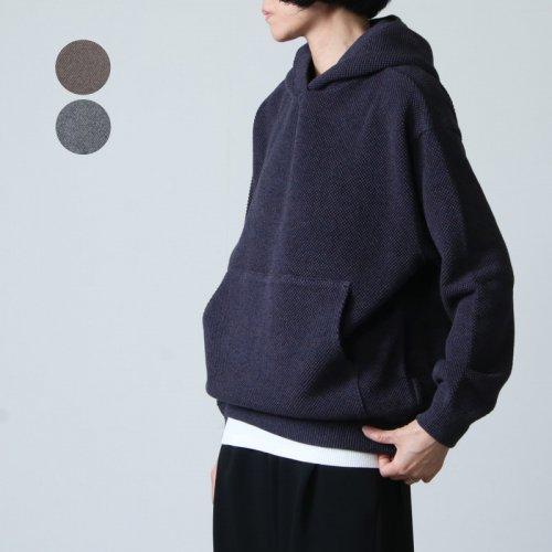 crepuscule (クレプスキュール) Moss stitch hoodie / モススティッチフーディ レディースサイズ