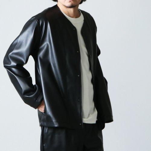 CURLY (カーリー) REGENCY NC JACKET Synthetic leather / リージェンシーノーカラージャケット シンセティックレザー