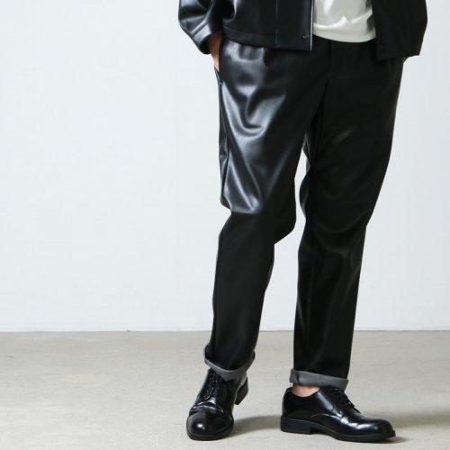 CURLY (カーリー) REGENCY EZ TROUSERS Synthetic leather / リージェンシーイージートラウザース シンセティックレザー