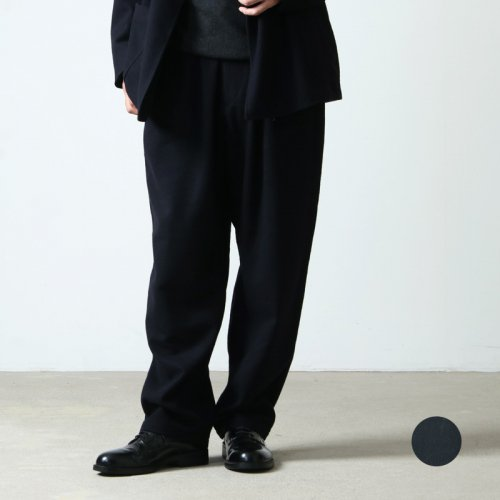 COMOLI (コモリ) 強縮ウール ドローストリングパンツ