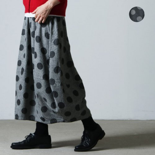 FACTORY (ファクトリー) 水玉ウール バルーンスカート