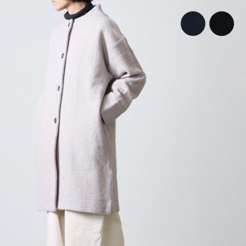 mao made (マオメイド) 圧縮ウールモックネックコート