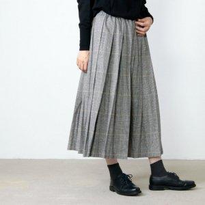 style + confort (スティールエコンフォール) リネン起毛タックスカート