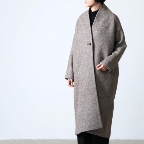 [THANK SOLD] SI-HIRAI (スーヒライ) アンゴラスェードスタンドネックコート