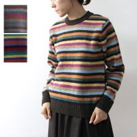 NOR'EASTERLY (ノア イースターリー) MULTI STRIPE CREW SWEATER
