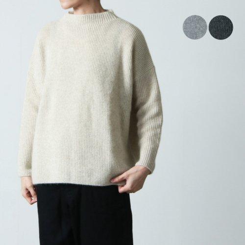 evameva (エヴァムエヴァ) soft cotton v neck pullover