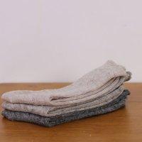 evameva (エヴァムエヴァ) linen rib socks