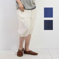 style + confort (スティールエコンフォール) リネンサイドポケットハーフパンツ