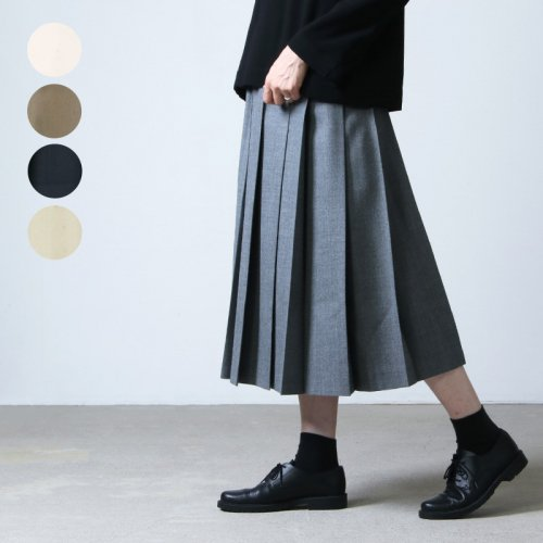 Charpentier de Vaisseau (シャルパンティエ ドゥ ヴェッソ) Pleated Skirt Wool / プリーツスカートウール