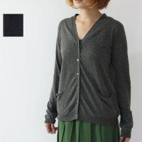 evameva (エヴァムエヴァ) soft cotton cardigan