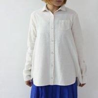 evameva (エヴァムエヴァ) cotton nep shirt