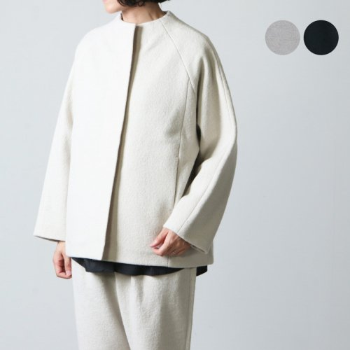 evameva (エヴァムエヴァ) press wool short coat / プレスウールショートコート
