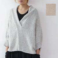 evameva (エヴァムエヴァ) cross collar pullover