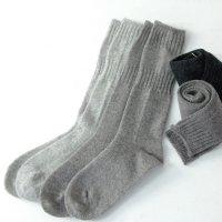 evameva (エヴァムエヴァ) wool rib high socks