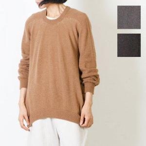 FACTORY (ファクトリー) キャメル 裾カーブセーター