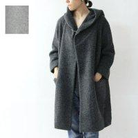 evameva (エヴァムエヴァ) pile sheep wool hooded coat
