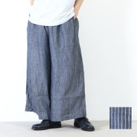 style + confort (スティールエコンフォール) リネンシャンブレーワイドパンツ