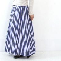 Vent Blanc (ヴァンブラン) ワイドストライプロングスカート