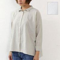 evameva (エヴァムエヴァ) cotton georgett square shirt