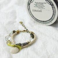 CERASUS (ケラスス) Coquillage d'argile ロープブレスレット