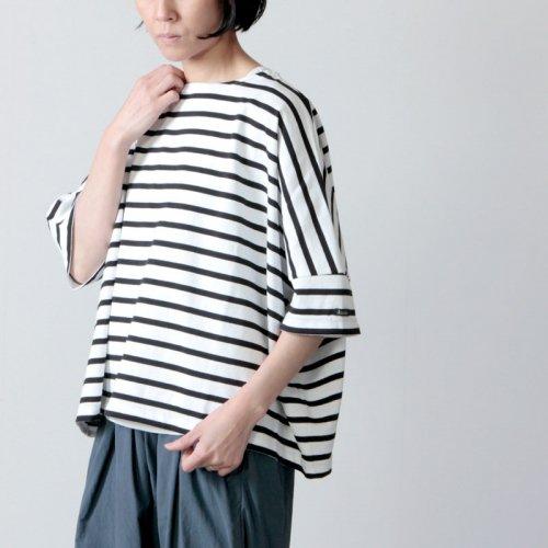 Le minor (ルミノア) ドルマンスリーブボーダーバスクシャツ