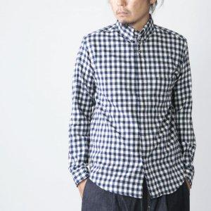 [THANK SOLD] nisica (ニシカ) 別注ギンガムチェックネルボタンダウンシャツ