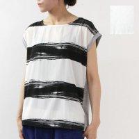 ara・ara (アラアラ) ビーチボーダープリントTシャツ
