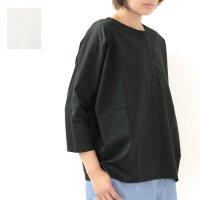 mizuiro ind (ミズイロインド) ドルマンノーカラーシャツ