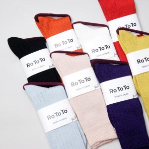 RoToTo (ロトト) LINEN COTTON RIB SOCKS