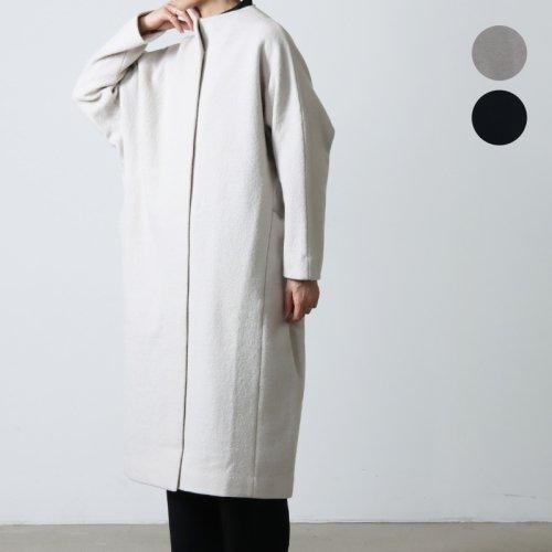 evameva (エヴァムエヴァ) Press wool coat / プレスウール コート