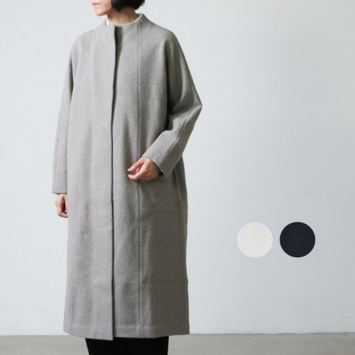 evameva (エヴァムエヴァ) Press wool coat / プレスウールコート