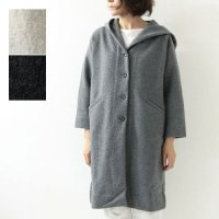 evameva (エヴァムエヴァ) wool hooded coat